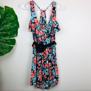 Candies Floral Flowy Mini Dress Size Small